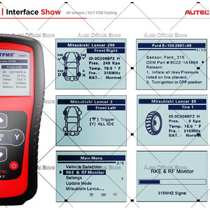 Image 5 - Autel MaxiTPMS TS401 Tire Pressure Monitoring System OBD2 TPMS Diagnostic Scanner Tool Activate 315 433MHZ Sensor Programming