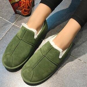 Image 5 - Chaussures de neige dhiver pour femmes grande taille 43 44 daim en caoutchouc souple grosses bottes cheville femme mode chaussures imperméables femmes antidérapant