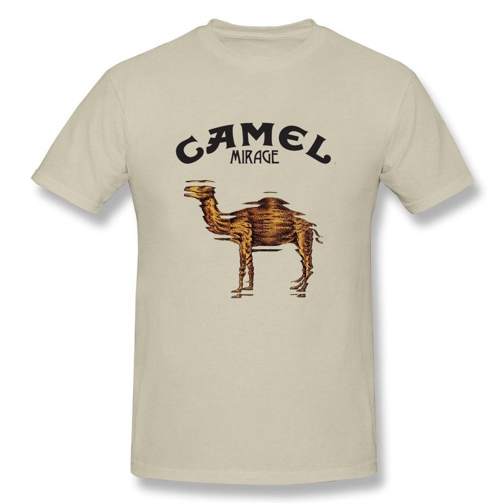 Camel T Shirt Big Size Short Sleeve Custom Men's T-shirt Summer Vintage Cotton Men T-shirt