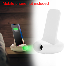 10W Safe Wireless Charger Indicator Light Quick Power Bank Stand Base Dock Travel Universal Portable Bracket Fast Charging