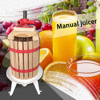 Wooden basket manual juicer Winery wine Juicer Slag juice separation machine apple Honeycomb machine