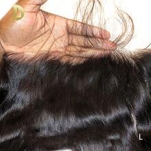 โปร่งใสด้านหน้าลูกไม้ 13X6 ตรงผมบราซิลสวิส Remy Human Hair Extensions HD ลูกไม้ก่อน plucked Dollface