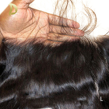 Frontal de encaje transparente 13x6 pelo liso brasileño suizo remy extensiones de cabello natural humano hd lace preplucked Dollface
