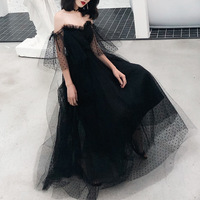Black Long Oriental Style Banquet Dresses Chinese Vintage Traditional Wedding Cheongsam Elegant Evening Party Gowns