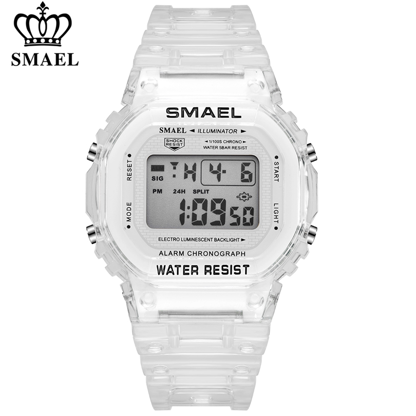 SMAEL Fashion Women Digital Watch Luxury Brand Student Sports Watches Unisex LED Electronic Wrist Watch Girl Clock Montre Femme