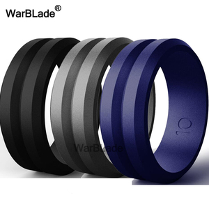 Image 5 - 3pc/set Food Grade FDA Silicone Rings Men Wedding Rubber Bands Hypoallergenic Flexible Sports Antibacterial Silicone Finger Ring