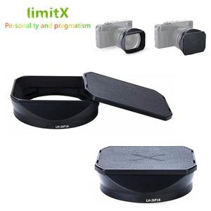 Image 1 - Süngü adanmış Metal Lens Hood Fuji Fujifilm Fujinon Lens XF 16mm F1.4 R WR değiştirir LH XF16 Lens Hood