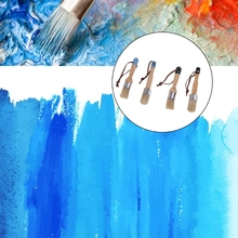 2 Pcs Round and Flat Chalk Paint Wax Brush Ergonomic Wood Handle Bristle Brush 449C