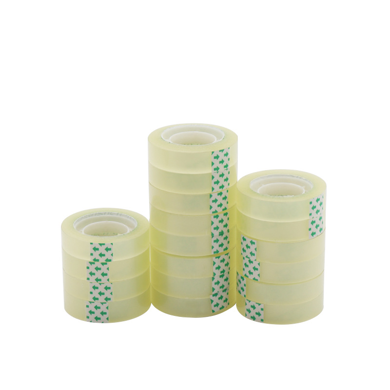 5pcs Stationery Tape Width 8/10/12/15/18mm*25m Office Transparent Tape DIY Packaging Tools Student School Office Supplies