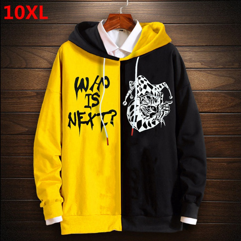 New Super Extra Large Code Loose Brother Men Long-sleeved Hooded  Plus Size Hoody Men 10XL 9XL 8XL