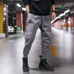 2019 Autumn New Style Japanese-style Large Size Casual Pants Men Multi-pockets Workwear Pants Men's Skinny Pants MEN'S Trousers
