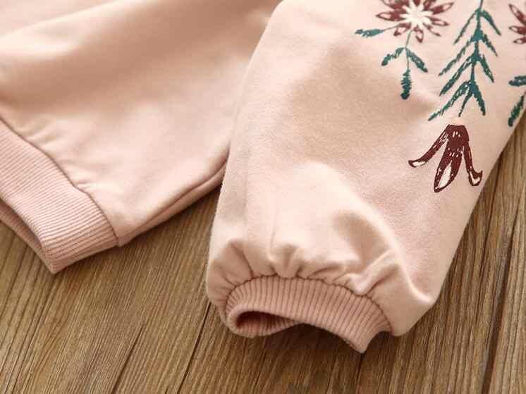2019 nieuwe herfst meisjes lange mouwen trui T-shirt top roze borduurwerk meisjes konijn sweatshirt mode kleding