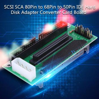 ALLOYSEED SCSI SCA 80 PIN TO 68 50 PIN SCSI Adapter SCA 80 PIN TO SCSI 68 IDE 50 Hard Disk Adapter Converter Card Board image