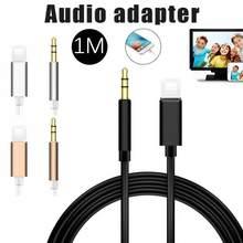 1m para ios todos syetem relâmpago para 3.5mm adaptador de áudio macho aux fone ouvido cabo conversor carro para iphone 7 8 xr xs 11 pro
