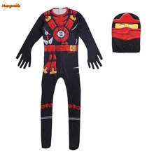 Ninjago Cosplay Kostüme Kinder Overalls Ninjago Schädel Trooper Kostüme Halloween Phantasie Party Kleid Bis Ninja Superhero Anzüge Jungen(China)