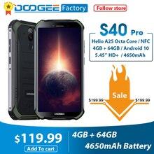 스마트 폰 DOOGEE S40 Pro Android 10 IP68/IP69K 4GB RAM 64GB ROM 견고한 휴대폰 방수 옥타 코어 4650mAh 휴대폰