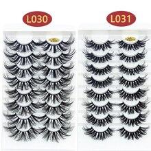 Makeup-Tools False-Eyelashes Natural-Wispies Handmade Fashion 8pairs Eye-Extension Mink