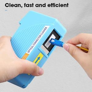 Image 3 - AUA 550 limpiador de conectores de fibra óptica/Conector de fibra Cassette de limpieza, 500 veces limpiador de Cassette caja de limpieza de fibra óptica