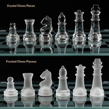 Jeu d'échecs grande taille 35CM en acrylique - aspect verre classieux 1