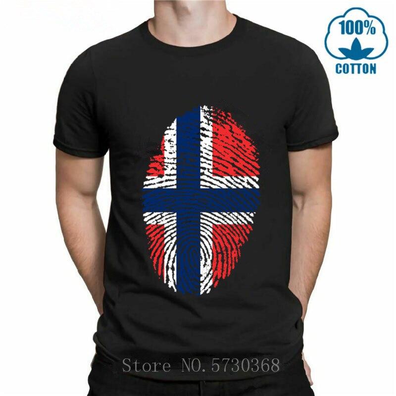 Норвегия флаг отпечатков пальцев дизайн модные футболки для мужчин хлопок детский топ-футболка с коротким рукавом с изображением & Детские ...