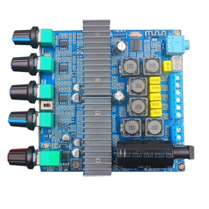 Image 5 - Bluetooth 5.0 TPA3116D2 Subwoofer Amplifier Board 2.1 Channel High Power Audio Stereo Amplifier Board  2*50W+100W DC12V 24V AMP