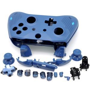 Image 3 - Tam konut Shell kiti yedek Thumbsticks ile düğmeler tampon Xbox One Slim denetleyici için 1708 spor mavi özel baskı