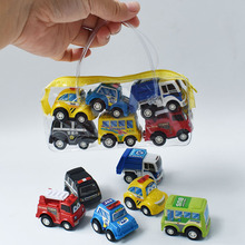 Игрушечная модель автомобиля, 6 шт., Набор игрушечных машинок, Мобильный автомобиль, пожарная машина, модель детского мини-автомобиля, игруш...