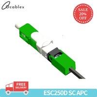 Free Shipping 100PCS/Lot FTTH ESC250D SC APC and SC UPC Single Mode Fiber Optic Quick Connector FTTH SM Optic Fast Connector