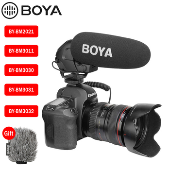 BOYA BY-BM3032 BY-BM3031 BY-BM3030 BY-BM3011 BY-BM2021 Microphone Camera Video Mic for Canon Nikon Sony DSLR Camcorder Interview