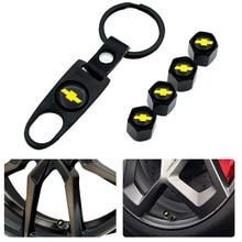 Металлические колпачки клапанов для шин для Chevrolet Cruze Captiva Lacetti Aveo Niva Trax Onix, 1 шт., автомобильные аксессуары для стайлинга автомобиля