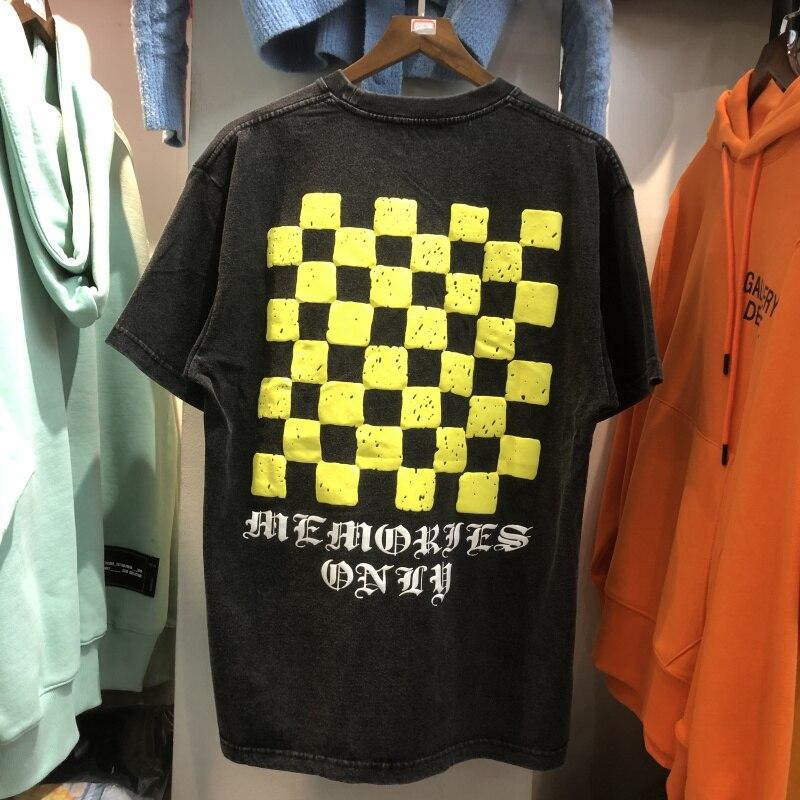 Camiseta Vintage unisex, prenda de vestir, de la mejor calidad, fluorescente, color amarillo, 2021