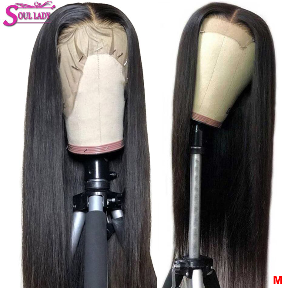 13x4 13x6 360 Transparent Human Hair Front Straight Wigs Remy 150 Malaysian Hair Lace Wig Preplucked And Bleached Knots Lace Wig