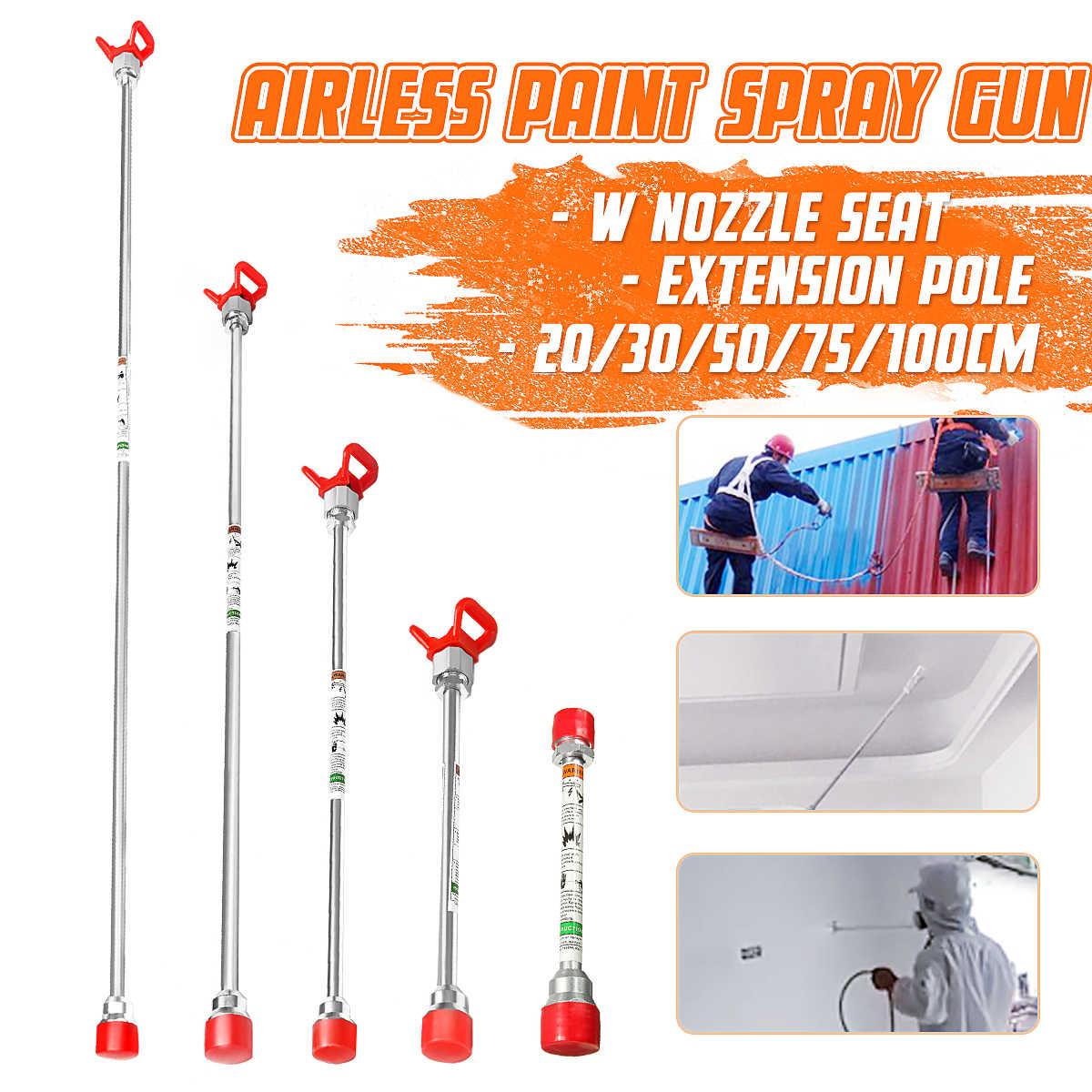 Havasız boya püskürtme ucu uzatma direği sprey tabancalar için uyar Titan Wagner 20cm/30cm/50cm/75cm/100cm sprey tabancalar meme aracı parçaları