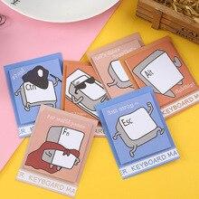 Пакет клавиатура из 6 заметки бумаги наклейки милые присосками карманные памятки Блокнот