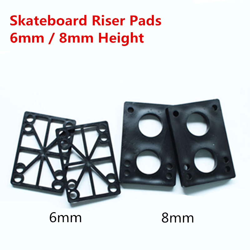 6mm 8mm Thickness Skateboard Risers Pads Longboard Shock Absorbing Riser Road Pad Skate Board Accessories 2 Pcs/lot