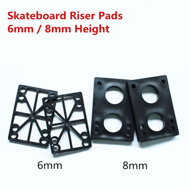 6mm 8mm Thickness Skateboard Risers Pads Longboard Shock Absorbing Riser Road Pad Skate Board Accessories 2 Pcs/lot