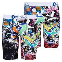 Ethika 2020 Hot kolorowe Ethika kalesony oddychające męskie krótkie spodnie elastan kreskówka zwierzęta bokserki męskie bielizna
