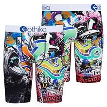 Ethika 2020 Hot Colorful Ethika Underpants Breathable Male Short Pants Spandex Animal cartoon Boxers Mens Underwear