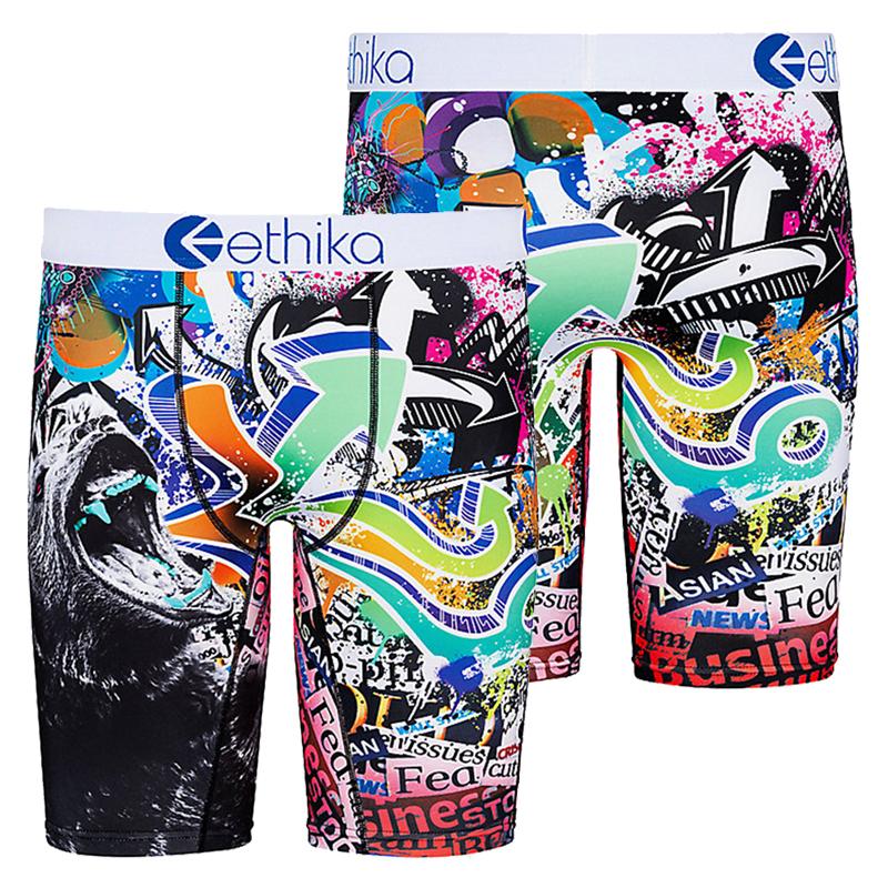 zhcth Ethika 2020 Hot Colorful Ethika Underpants Breathable Male Short Pants Spandex Animal Cartoon Boxers Mens Underwear
