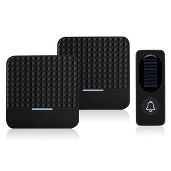 цена на 300M Remote Solar Wireless Waterproof Doorbell Light Control Sensor With Transmitter + Receiver Doorbell One For Two Kit US Plug