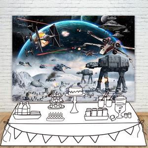 Звездные войны тема фон на день рождения Вселенная войны фото фон для мальчиков подростков ребенок вечерние столик для торта декоративная ...