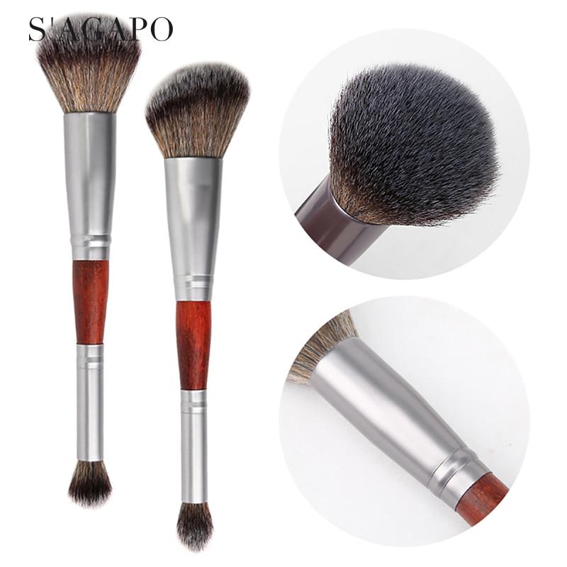 1PCS Luxury professional double-headed blush makeup brush eyeshadow blush Concealer loose powder make up brushes tools