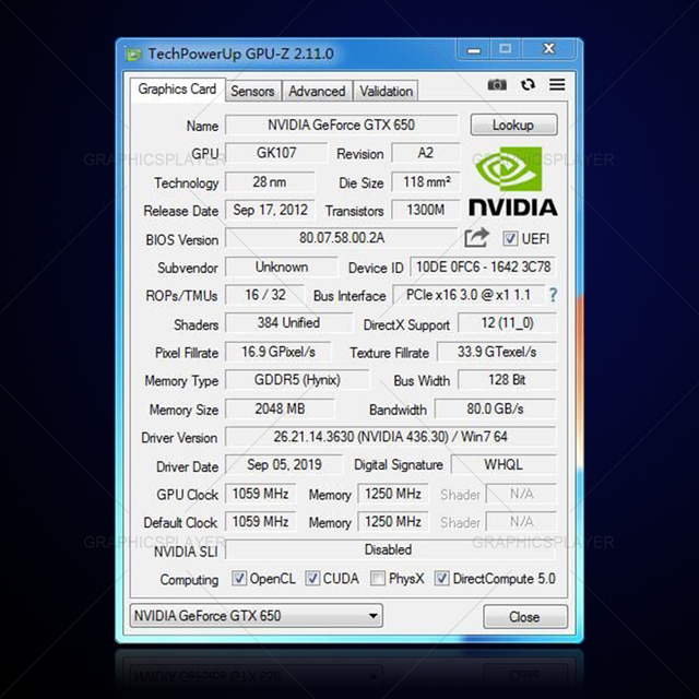 Original Chip Graphics Card VGA Video Card GTX PC GTX650 2GB /2048MB 128BIT for NVIDIA GPU Model Video 6