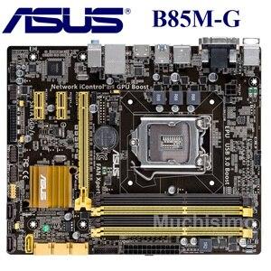 Socket LGA1150 USB3.0 SATA3 PCI-E3.0 For ASUS B85M-G Original Used Desktop Mainboard for Intel B85 Motherboard DDR3 GA1150 32GB