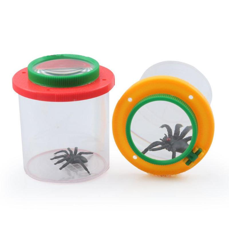 Home Magnifying Glass Children Cylindrical Crawler Spider Insect Box Magnifying Glass Magnifier