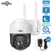 Hiseeu – caméra de Surveillance dôme extérieure PTZ IP WIFI hd 2MP/3MP/1536P, dispositif de sécurité sans fil, avec Zoom numérique x5 et Audio et protocole Onvif, 1080P