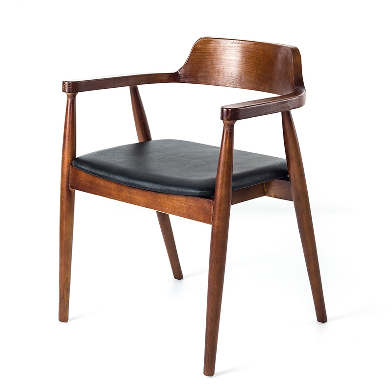 American Wrought Iron Solid Wood Dining Chair President Chair Coffee Chair Office Chair Retro Computer Chair Sofa Chair Single C