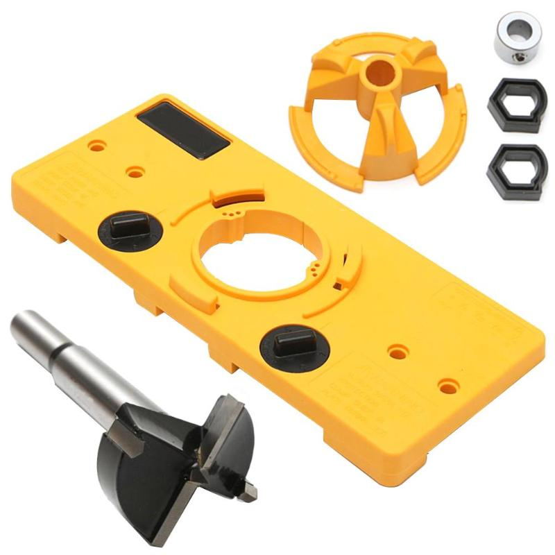 35mm Cup Style Hinge Jig Drill Guide Cabinet Door Installation Hole Locator Hand Tool For Woodworking Tool Kit