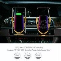 Sem fio automático de fixação inteligente sensor suporte do telefone do carro e carregador 10 w 2 em 1 nova versão|Suporte universal p/ carro| |  -