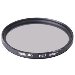 RISE (UK) 58mm neutralna gęstość filtr ND2 dla dowolnego obiektywu 58mm aparatu DSR DLSR|Filtry do aparatu|Elektronika użytkowa -